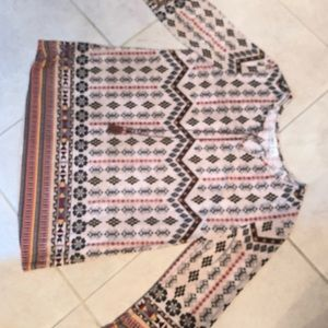 Loose fit Aztec Top